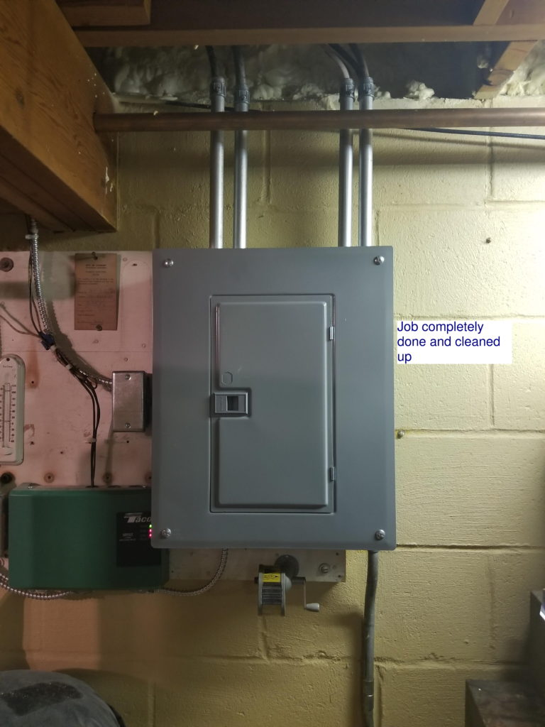 Outstanding Electrical Panel Work